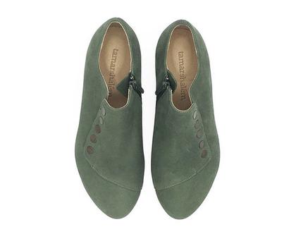 נעלי עור - דגם גרייס ירוק