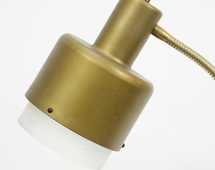 מנורת שולחן וינטאג׳ זהובה, מנורת פליז, מנורת לילה מפליז, מנורת שולחן מפליז