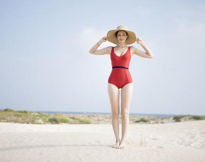 בגד ים שלם רקדנית אדום