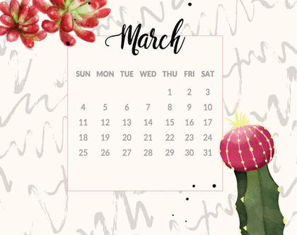 לוח שנה אישי | קבצים להדפסה עצמית | שנת 2020 | לוח שנה ממותג אישית עם סימון תאריכים חשובים
