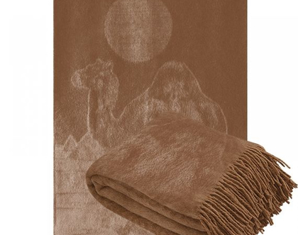 כירבולית צמר גמלים רכה שמיכה אלגנטית שמיכת צמר קלסית צמר גמלים שמיכה לחורף שמיכת צמר שמיכה חורפית מתנה לסבתא