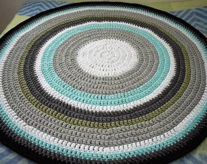 שטיח סרוג בעבודת יד מחוטי טריקו לחדר תינוק/ילדים/שינה
