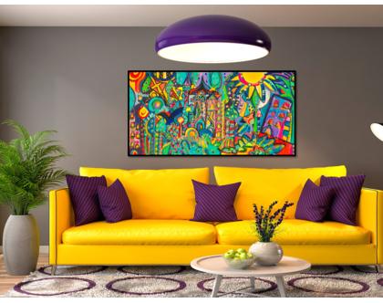 ציורי גדול לסלון / תמונה לבית / ציורי קנבס לבית / ציור מקורי על בד/ ענבר רייך אמנות מקורית
