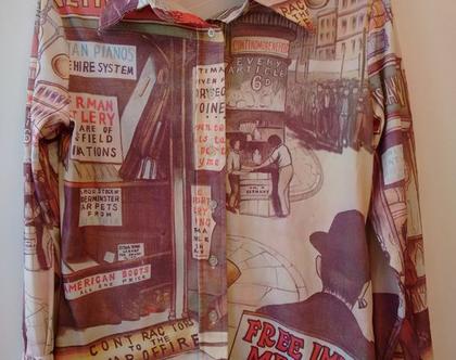 חולצה סבנטיז קומיקס מיוחדת   חולצת קומיקס וינטג' מקורית משנות ה70' מידה M L
