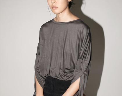 טישרט כפתורים בשרוול, חולצה עם שרוול ארוך, חולצה לסתיו, טישרט שרוול ארוך, טישרט שחורה