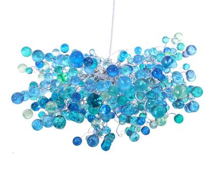 """מנורת תקרה """"חללית"""" כדורים בגוונים של כחולים """"ים"""""""