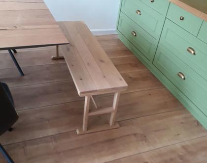 ספסל/שולחן H מעץ אלון   ספסל לפינת אוכל   ספסל לאמבטיה   ספסל לחדר שינה   ספסל פסנתר