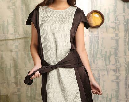 שמלת משי Round Cut