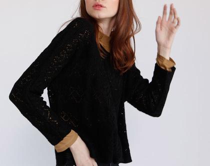 סוודר קרושה שחור