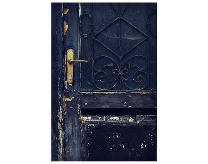 גלויה מצולמת. דלת עתיקה. דלת שחורה צילום. פרינט מקורי. צילומים מקוריים. כרטיס ברכה. הדפס מקורי. הדפס דלתות עתיקות.