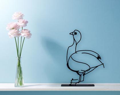 פסל אווז, פסלון דקורטיבי, פסל מתכת, אומנות מקורית, פסלי חיות