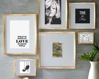 סט 6 תמונות לסלון - הזמן הוא עכשיו