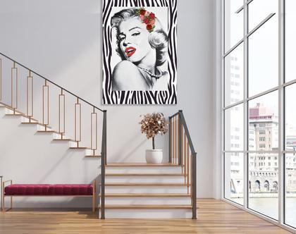 תמונת קנבס מעוצבת - מרלין מונרו דגם 201   Marilyn Monroe Abstract  תמונה מעוצבת של מרלין מונרו