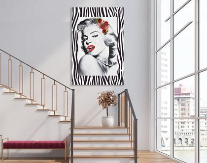 תמונת קנבס מעוצבת - מרלין מונרו דגם 201 | Marilyn Monroe Abstract| תמונה מעוצבת של מרלין מונרו