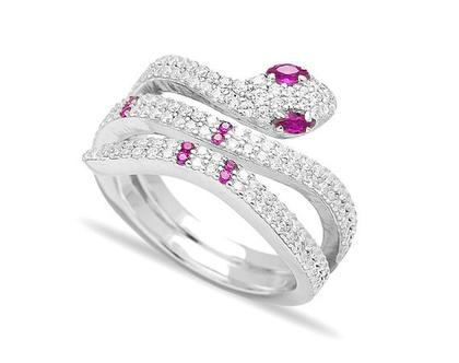 טבעת נחש ורוד