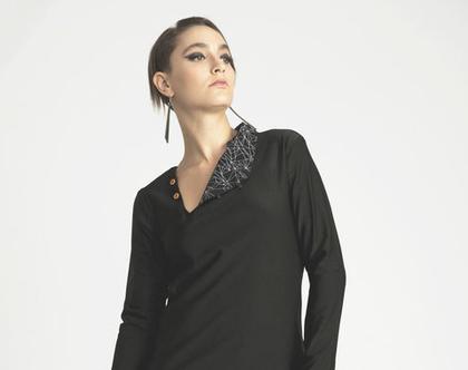 שמלה שחורה לחורף