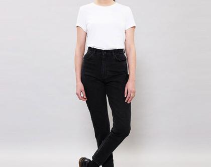 מכנסי ג'ינס שחורים גבוהים