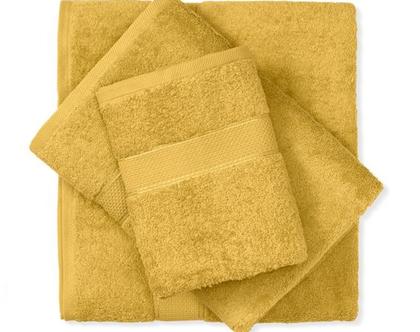 מגבת חלקה - צהוב