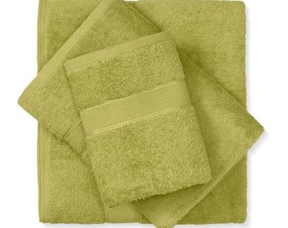 מגבת חלקה - ירוק
