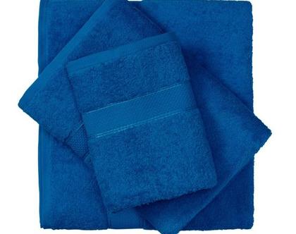 מגבת חלקה - כחול רויאל