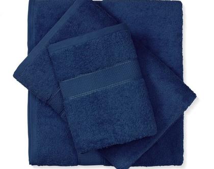מגבת חלקה - כחול נייבי