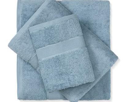 מגבת חלקה - כחול ג'ינס