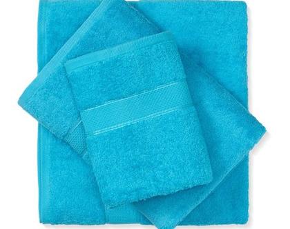 מגבת חלקה - כחול טורקיז