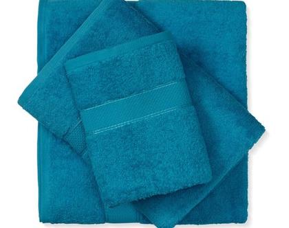 מגבת חלקה - טורקיז כהה