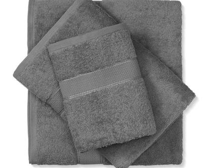 מגבת חלקה - אפור