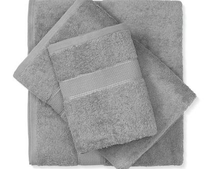 מגבת חלקה - אפור בהיר