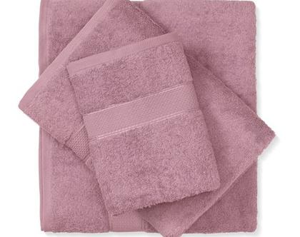 מגבת חלקה - ורוד עתיק