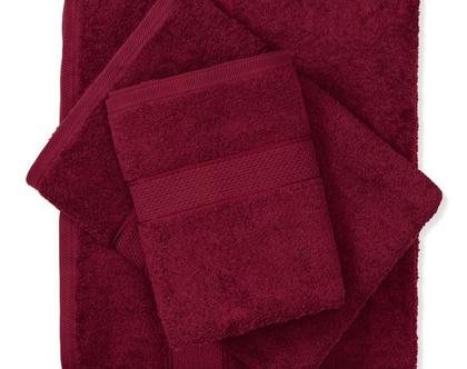 מגבת חלקה - בורדו