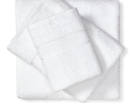 מגבת חלקה - לבן