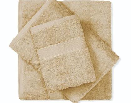 מגבת חלקה - חום בהיר