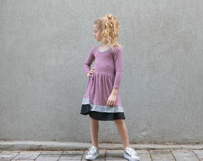 שמלת קומות סופר מסתובבת .שמלת ג'אז סגול