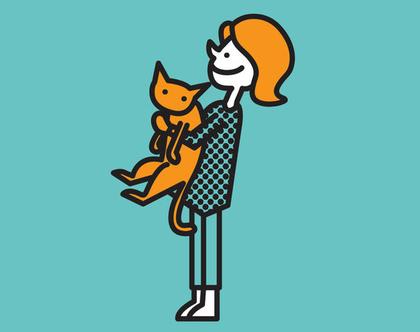 הדפס - מיאו, חתולה