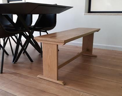 ספסל/שולחן אבירינה מעץ אלון | ספסל לפינת אוכל | ספסל לאמבטיה | ספסל לחדר שינה | ספסל פסנתר