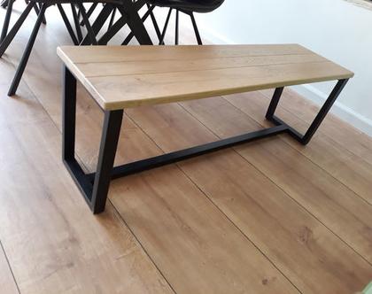 ספסל/שולחן טרפזינה מעץ אלון ובוק עם רגלי טרפז   ספסל לפינת אוכל   ספסל לאמבטיה   ספסל לחדר שינה   ספסל פסנתר