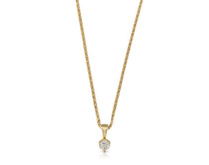 שרשרת יהלום, שרשרת סוליטר יהלום, שרשרת משובצת יהלום, תליון יהלום, שרשרת יהלום קלאסית