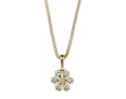 שרשרת יהלומים, שרשרת זהב, תליון יהלומים, תליון זהב, שרשרת זהב ויהלומים, שרשרת יהלומים עדינה