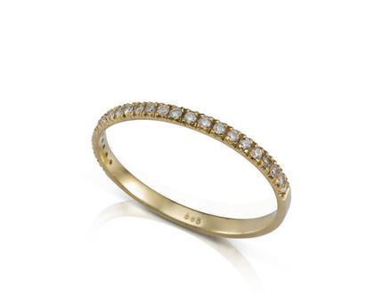 טבעת יהלומים דקה, טבעת יהלומים, טבעת שורת יהלומים, טבעת אירוסין, טבעת יהלומים קטנים