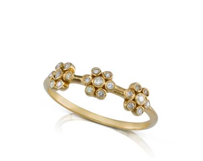 טבעת יהלומים, טבעת פרחים, טבעת זהב עדינה, טבעת זהב מיוחדת, טבעת אירוסין מיוחדת, טבעת זהב בצורת פרח