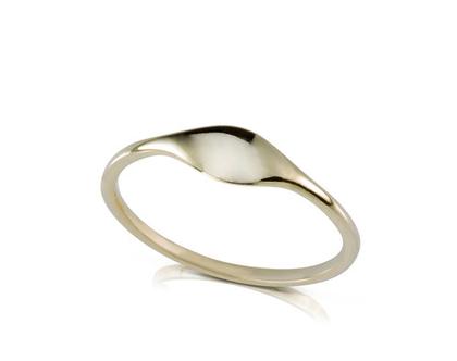 טבעת זהב עדינה , טבעת נישואין לאישה, טבעת עם חריטה, טבעת נישואין