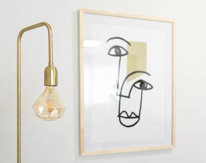 מנורת רצפה מפליז וברזל, מנורת רצפה סקנדינבית, מנורת רצפה מעוצבת