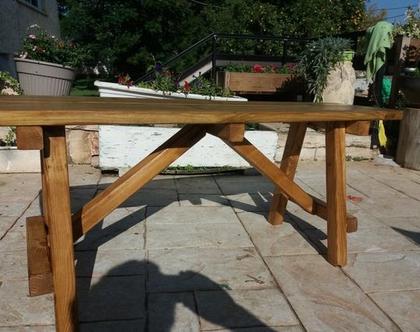 ספסל עץ מלא דגם לימור