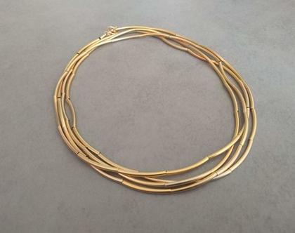 שרשרת צינורות זהב   שרשרת קצרה מזהב   שרשרת צינורות חלקה   שרשרת זהב שהופכת לצמיד   שרשרת קצרה או ארוכה   שרשרת מלופפת