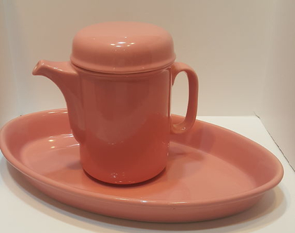 קנקן לתה או מים רותחים ותבנית קרמיקה ישראלית תוצרת לפיד צבע נדיר