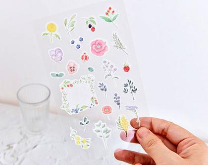 מדבקות - פרחים
