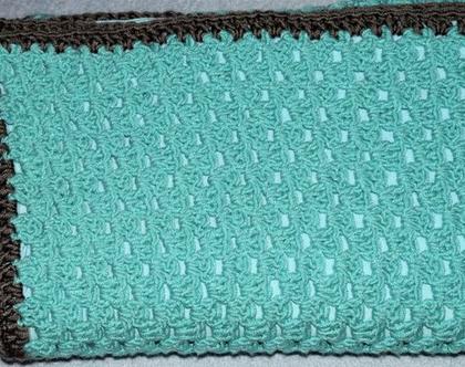 שמיכה סרוגה לתינוק, שמיכה רכה ונעימה עם בטנת כותנה, לעגלה או למיטה