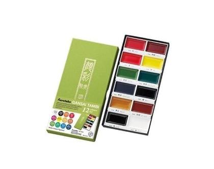 צבעי מים 12 | סט צבעים | צבעים מיוחדים | צבעים יפניים |